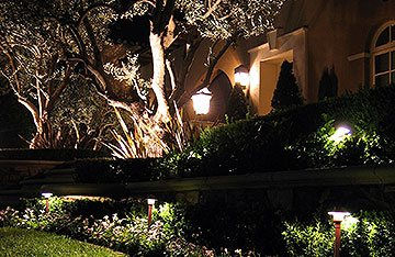 landscape lighting design in East Meadow 11554
